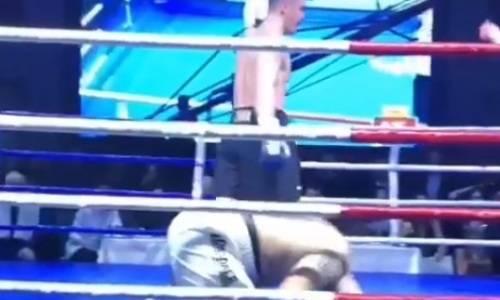 В Сети появилось новое видео нокдаунов и убойного нокаута казахстанского супертяжа