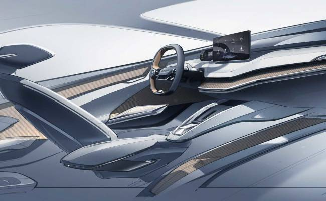Skoda показала салон электрического концепта Vision iV