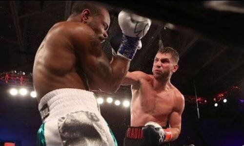 Непобежденный россиянин заставил американца с 13 победами выживать в ринге. Видео капитуляции