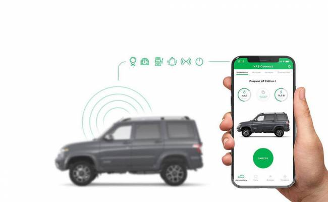 УАЗ тестирует систему запуска двигателя и открывания дверей со смартфона