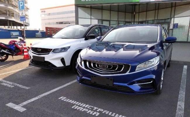 В Минске замечены две новые модели Geely. Они могут появиться и в России