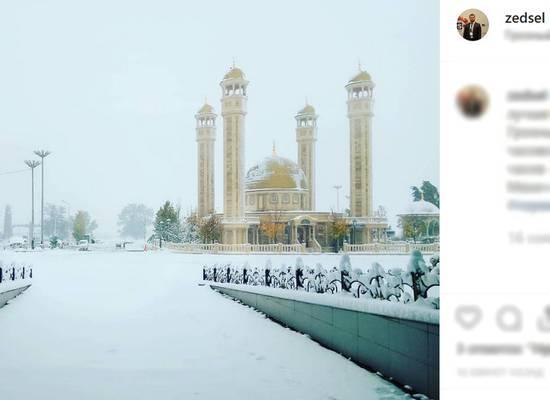 В Чечне впервые за четыре года в ноябре выпал снег