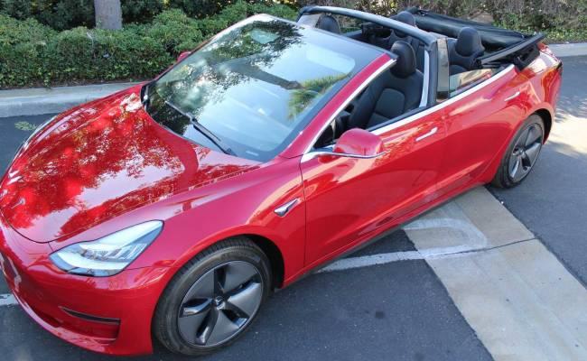 Калифорнийская фирма превратила Tesla Model 3 в кабриолет. Цена впечатляет