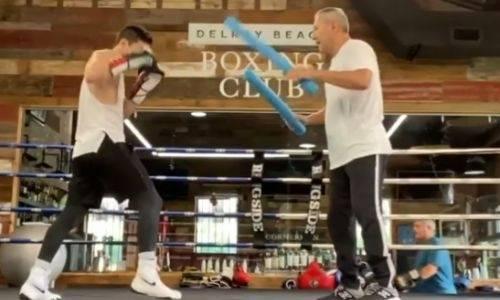 Данияр Елеусинов показал тренировку защиты перед боем с экс-чемпионом мира