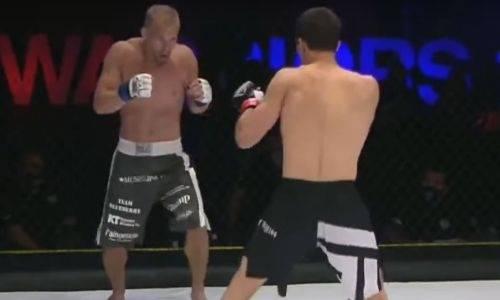 Появилось видео яркой победы двоюродного брата Хабиба Нурмагомедова на турнире UAE Warriors