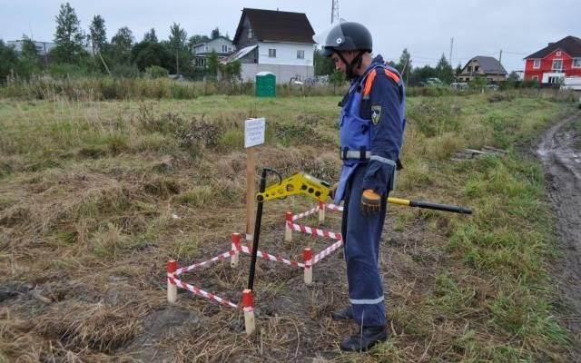 В Санкт-Петербурге на стройке нашли снаряд времён Первой мировой войны