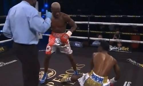 Бой за титулы WBA и IBF закончился нокаутом за секунду до конца первого раунда. Видео