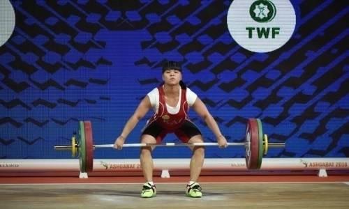 Зульфия Чиншанло выиграла чемпионат Казахстана по тяжелой атлетике