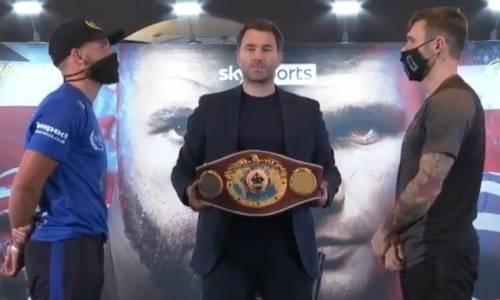 Сондерс и Мюррей провели дуэль взглядов перед боем за титул WBO. Видео