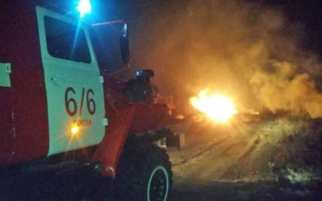 В Свердловской области после разгерметизации загорелся газопровод