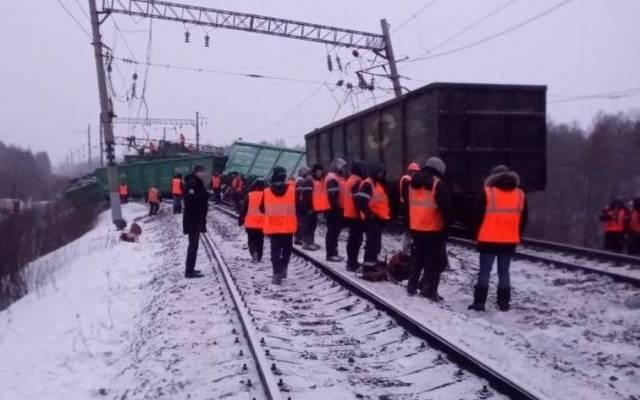 МЧС уточнило, что в Приамурье сошло с рельсов 25 вагонов с углем