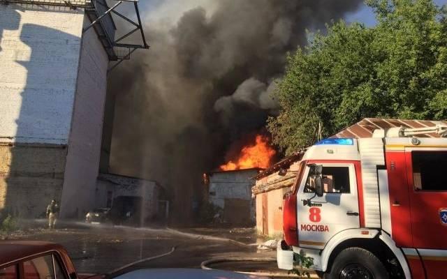 Названа причина пожара на складе пиротехники в Москве