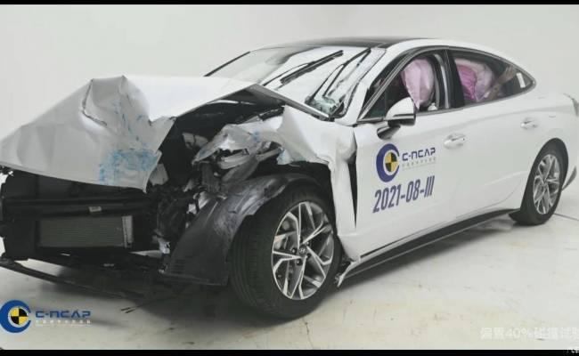 Седан Hyundai Sonata отлично проявил себя в краш-тесте C-NCAP