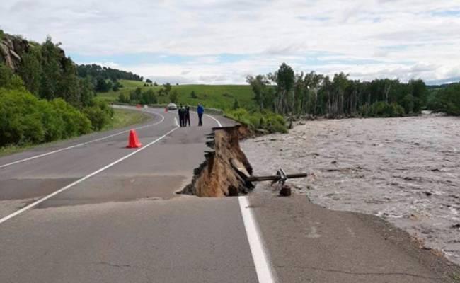 Из-за паводков в Забайкалье перекрыта федеральная трасса «Амур»
