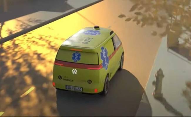 Volkswagen показал будущие беспилотники на базе электрического минивэна I.D. Buzz. ВИДЕО
